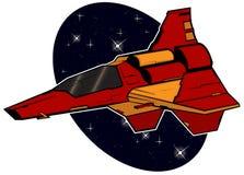 Futuristisches Kampf starship stock abbildung