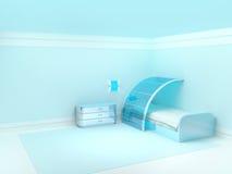 Futuristisches Kinderschlafzimmer Stockbild