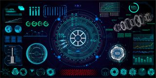Futuristisches Konzept HUD, GUI vektor abbildung