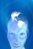 Futuristisches Konzept mit Gesicht 3d Lizenzfreie Stockfotografie