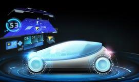 Futuristisches Konzeptauto mit gps-Navigator Stockfoto
