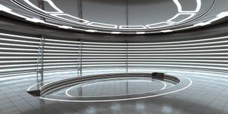 Futuristisches leeres Stadium Wiedergabe 3d Lizenzfreies Stockfoto