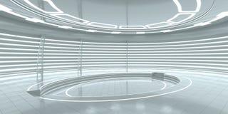Futuristisches leeres Stadium Wiedergabe 3d Stockbild