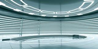 Futuristisches leeres Stadium Wiedergabe 3d Lizenzfreie Stockfotos