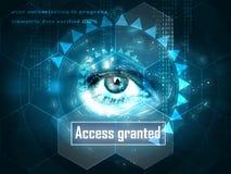 Futuristisches menschliches Auge lizenzfreie abbildung