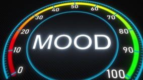Futuristisches Meter oder Indikator der Stimmung Begriffswiedergabe 3d stock abbildung
