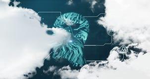 Futuristisches Profil und Ikonen 4k