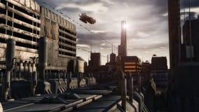 Futuristisches Raumschiff UFO Stockbilder