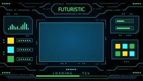 Futuristisches Schnittstellentechnologie-Vektordesign für zukünftige Geschäftstechnologie Stockbild