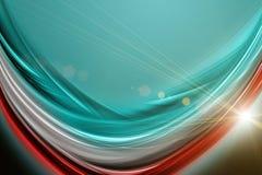 Futuristisches Technologiewellen-Hintergrunddesign stockfoto