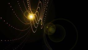 Futuristisches Technologiewellen-Hintergrunddesign stockfotos