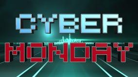Futuristisches Text-Design Cyber-Montag-Verkaufs-3D stock abbildung