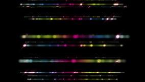 Futuristisk animering för teknologiljusband, 4096x2304 ögla 4K stock illustrationer