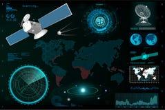 Futuristisk användargränssnitt, beståndsdelmall HUD stock illustrationer