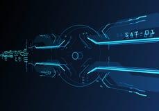 futuristisk användargränssnitt 3d Arkivbilder
