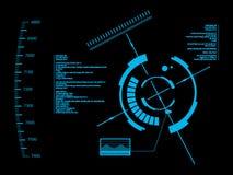 Futuristisk användargränssnitt HUD royaltyfri illustrationer