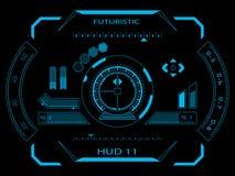 Futuristisk användargränssnitt HUD stock illustrationer