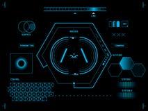 Futuristisk användargränssnitt HUD vektor illustrationer