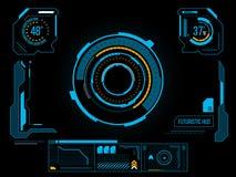 Futuristisk användargränssnitt HUD Arkivbild