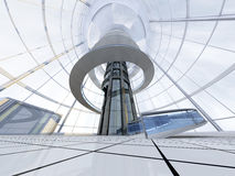 Futuristisk arkitektur Arkivfoton