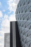 Futuristisk arkitektur Fotografering för Bildbyråer