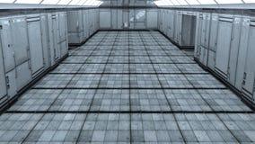 futuristisk arkitektur 3d Arkivfoto