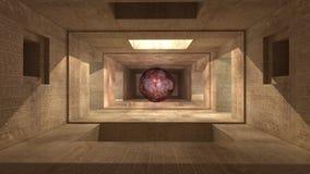 futuristisk arkitektur 3d Arkivbilder