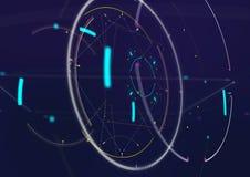 Futuristisk bakgrund för abstrakt techno Arkivfoton