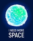 Futuristisk bakgrund för utrymmeplanetaffisch, utforskning av rymdenbegrepp vektor illustrationer