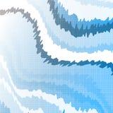 Futuristisk bakgrund med vinkelformiga former och vita svansar royaltyfri illustrationer