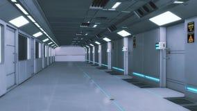 Futuristisk bakgrundsinre för film Arkivfoton