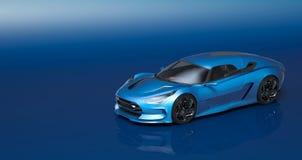 Futuristisk bil för begrepp 3d Royaltyfri Foto