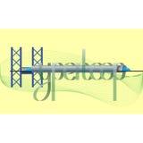 Futuristisk bokstäver för genomskinlig hyperloop Arkivbild