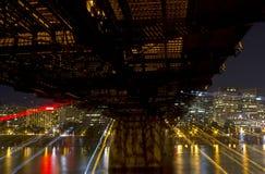 Futuristisk Cityscape av Portland Oregon Arkivfoto