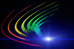 Futuristisk design för teknologivågbakgrund vektor illustrationer