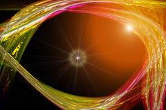 Futuristisk design för teknologivågbakgrund Arkivfoton