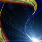 Futuristisk design för teknologivågbakgrund Arkivbilder