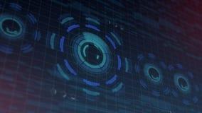 Futuristisk digital HUD Technology användargränssnitt, radarskärm med olik kommunikation för teknologibeståndsdelaffär Royaltyfri Foto
