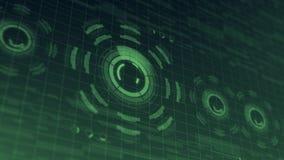 Futuristisk digital HUD Technology användargränssnitt, radarskärm med olik kommunikation för teknologibeståndsdelaffär Royaltyfria Foton