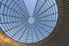 Futuristisk Exponeringsglas-stål kupol - Rovereto Italien Royaltyfri Foto