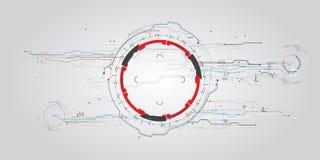 Futuristisk faktisk grafisk handlaganvändargränssnitt HUD för begrepp Arkivbilder