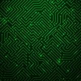 Futuristisk glänsande grön teknologi Backgorund Fotografering för Bildbyråer
