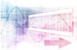 Futuristisk graf Fotografering för Bildbyråer