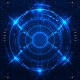 Futuristisk grafisk användargränssnitt Arkivfoton
