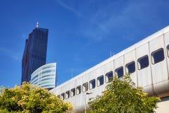 Futuristisk infrastruktur för Wien stadsdrev Arkivfoton
