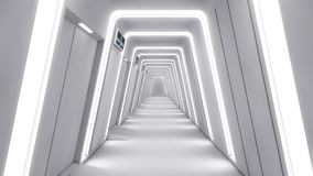 Futuristisk inre miljö Arkivfoton
