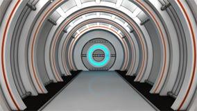 Futuristisk korridor Arkivbilder