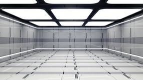 Futuristisk korridor Arkivfoton