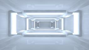 Futuristisk korridor stock illustrationer