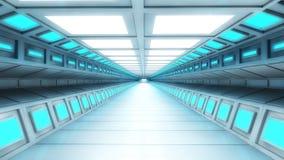 Futuristisk korridor Royaltyfri Bild